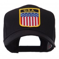 North and South America Flag Shield Patch Cap - United States