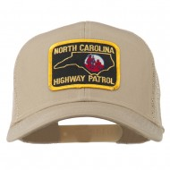 North Carolina Highway Patrol Patched Mesh Cap - Khaki