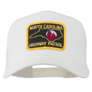 North Carolina Highway Patrol Patched Mesh Cap - White