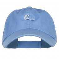 Mini Wave Embroidered Low Cap - Sky Blue