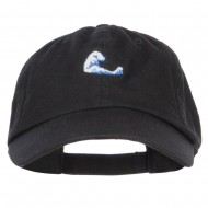 Mini Wave Embroidered Low Cap - Black