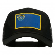 Nevada State Flag Patched Mesh Cap - Black