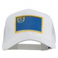 Nevada State Flag Patched Mesh Cap - White