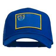 Nevada State Flag Patched Mesh Cap - Royal