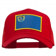 Nevada State Flag Patched Mesh Cap - Red
