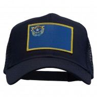 Nevada State Flag Patched Mesh Cap - Navy