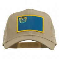 Nevada State Flag Patched Mesh Cap - Khaki
