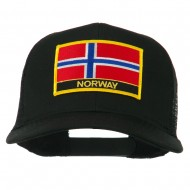 Norway Country Patched Mesh Back Cap - Black