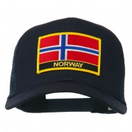 Norway Country Patched Mesh Back Cap - Navy