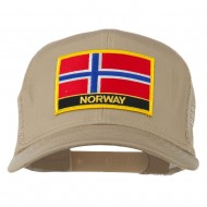 Norway Country Patched Mesh Back Cap - Khaki