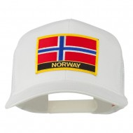 Norway Country Patched Mesh Back Cap - White