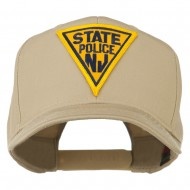 New Jersey State Police Patched High Profile Cap - Khaki