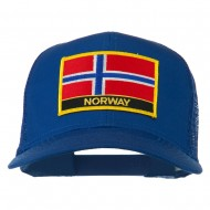 Norway Country Patched Mesh Back Cap - Royal