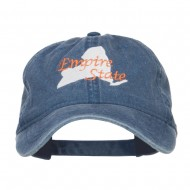 New York Empire State Embroidered Cap - Navy
