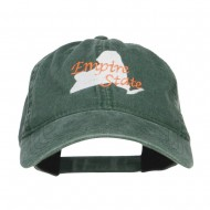 New York Empire State Embroidered Cap - Dk Green