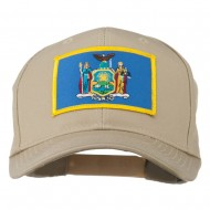 State of New York Embroidered Patch Cap - Khaki