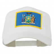 State of New York Embroidered Patch Cap - White