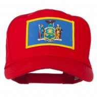 State of New York Embroidered Patch Cap - Red