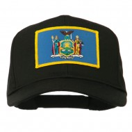 State of New York Embroidered Patch Cap - Black