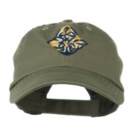 Oval Celtic Embroidered Cap - Olive