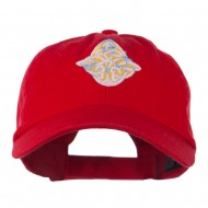 Oval Celtic Embroidered Cap - Red