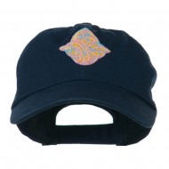 Oval Celtic Embroidered Cap - Navy