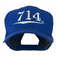 714 Orange County Area Code Embroidered Cap - Royal