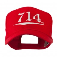 714 Orange County Area Code Embroidered Cap - Red