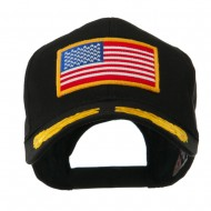 Oak Leaves and American Gold Flag Patch Cap - Black