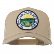 Ohio State Seal Patched Mesh Cap - Khaki