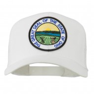 Ohio State Seal Patched Mesh Cap - White