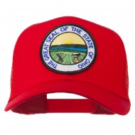 Ohio State Seal Patched Mesh Cap - Red