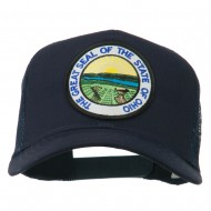 Ohio State Seal Patched Mesh Cap - Navy