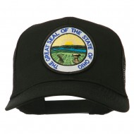 Ohio State Seal Patched Mesh Cap - Black