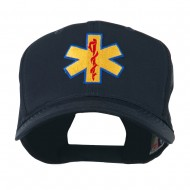 Star of Life Embroidered Cap - Navy
