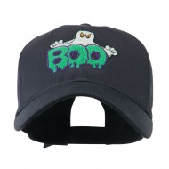 Halloween Ghost Boo Embroidered Cap - Navy