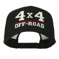 4 x 4 Off Road Embroidered Mesh Back Cap - Black