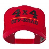 4 x 4 Off Road Embroidered Mesh Back Cap - Red