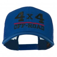4 x 4 Off Road Embroidered Mesh Back Cap - Royal