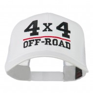 4 x 4 Off Road Embroidered Mesh Back Cap - White