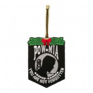 Support Our Troops Embroidered Ornament Medallion - POW MIA
