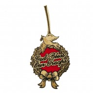 Support Our Troops Embroidered Ornament Medallion - God Bless Our Troops