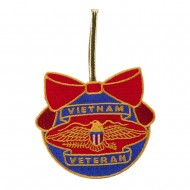Support Our Troops Embroidered Ornament Medallion - Vietnam Veteran