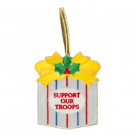Support Our Troops Embroidered Ornament Medallion - Gift Box