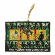 Support Our Troops Embroidered Ornament Medallion - Forgotten Generation