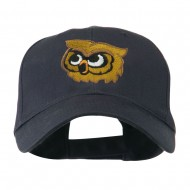 Brown Owl Mascot Embroidered Cap - Navy