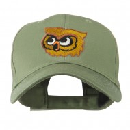 Brown Owl Mascot Embroidered Cap - Olive
