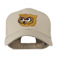Brown Owl Mascot Embroidered Cap - Khaki