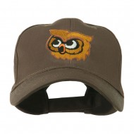 Brown Owl Mascot Embroidered Cap - Brown