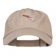 Bloody Knife Embroidered Dyed Cap - Khaki